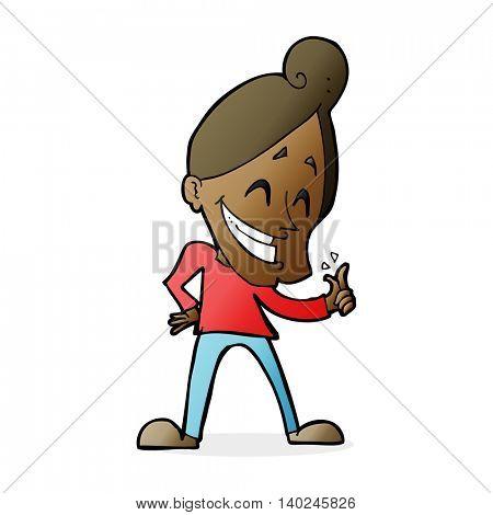 cartoon man snapping fingers
