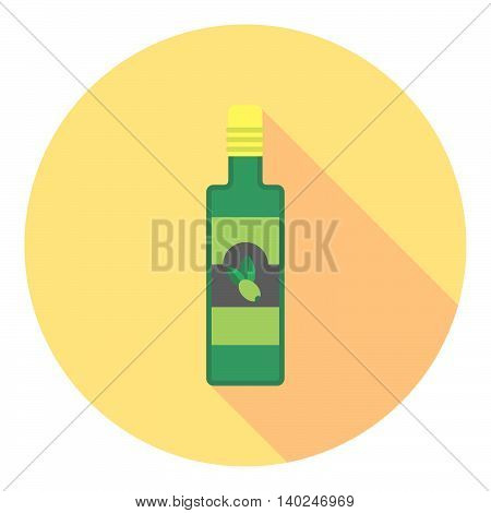Olive Oil Bottle Flat Icon
