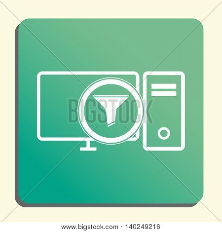 Pc Filter Icon In Vector Format. Premium Quality Pc Filter Symbol. Web Graphic Pc Filter Sign On Gre