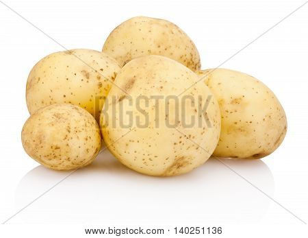 New potato isolated on a white background