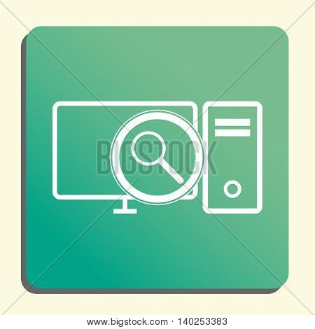 Pc Zoom Icon In Vector Format. Premium Quality Pc Zoom Symbol. Web Graphic Pc Zoom Sign On Green Lig