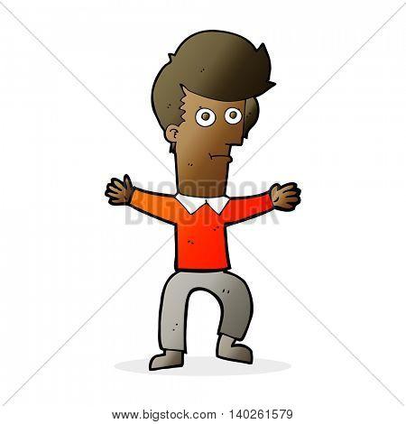 cartoon startled man