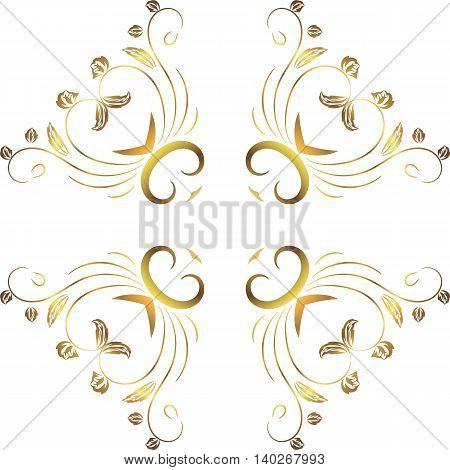 abstract floral decoration symmetrical. A transparent background pattern of geometric elements of figures