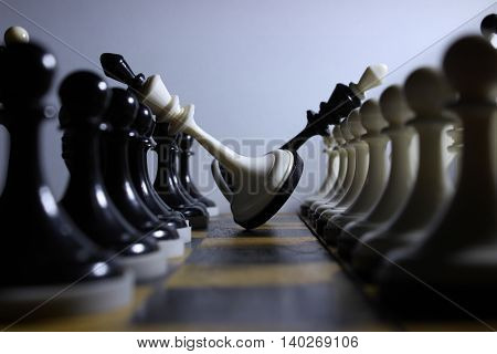 Chess, pieces, king, game, win, board, defeat.