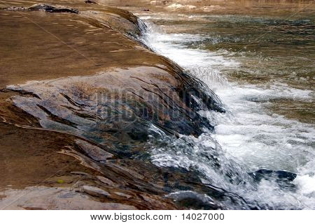 Close up of a small Waterfall