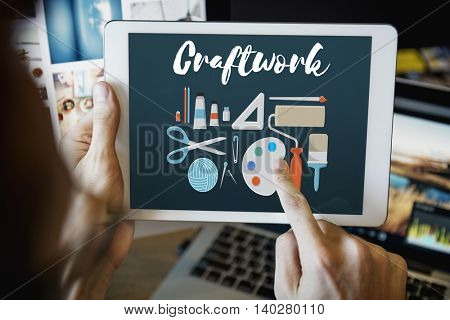 Craftwork Arts and Craft Artistic Design Ideas Concept