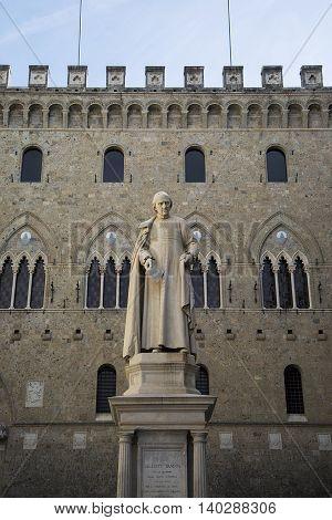 Sallustio Bandini Statue In Siena, Italy
