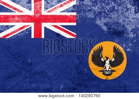 Flag Of South Australia State, Australia, With A Vintage And Old