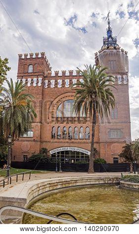 BARCELONA SPAIN - JULY 11 2016: Castell dels Tres Dragons built in 1887 in Parc de la Ciutadella.