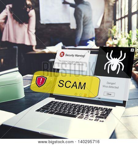 Scam Computer Security Concept