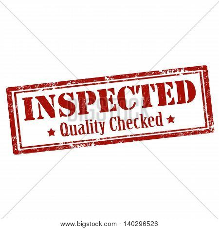 Grunge rubber stamp with text Inspected-Quality Checked,vector illustration