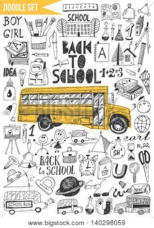 Doodles set - Back to School.
