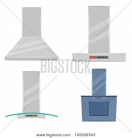 Kitchen extractor hood vector illustration isolated on a white background