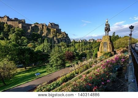 Edinburgh Castle is a historic fortress on the Castle Rock.
