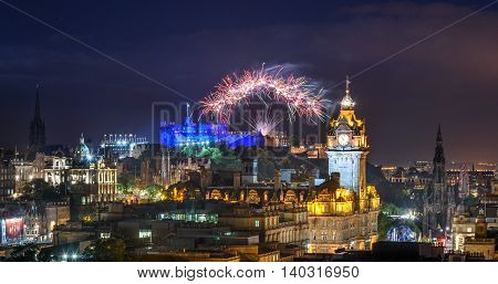 A fireworks display marks the end of the Edinburgh Fringe and International Festival.