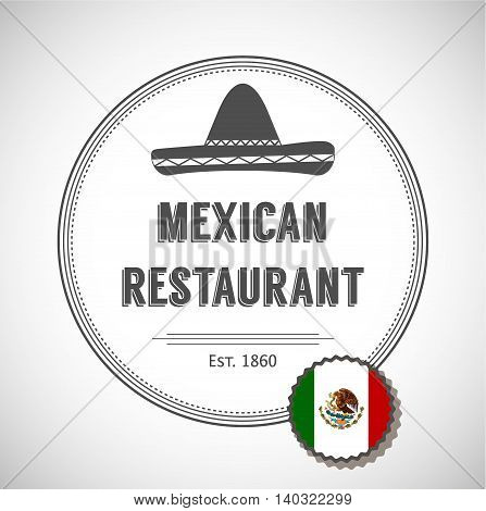 Mexican restaurant logo. Badges, labels, logotype for Mexican food.