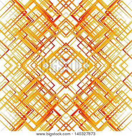 Geometric Grid, Mesh Seamlessly Repeatable Pattern. Monochrome Reticulate, Grating, Grille Abstract
