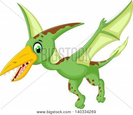 funny pterodactyl cartoon flying for you design