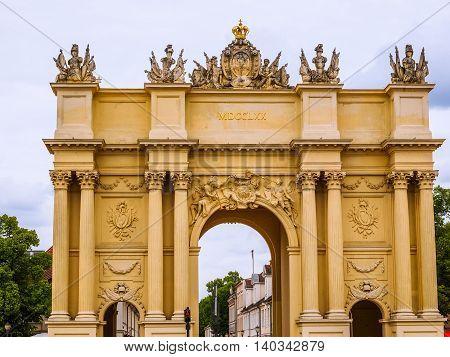 High dynamic range HDR Brandenburger Tor Brandenburg Gate in Potsdam Berlin Germany poster