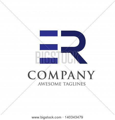 letter ER creative logo concept, innovative ER letter icon concept