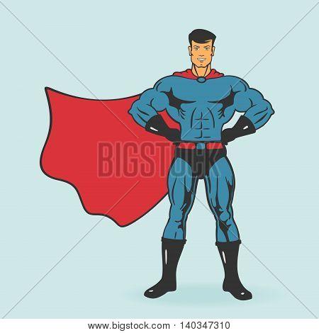 Super Hero Stand Vector Illustration eps 8 file format