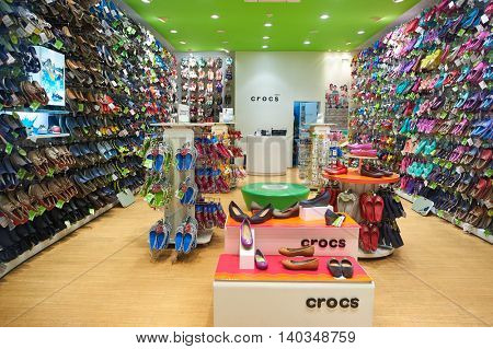 PATTAYA, THAILAND - FEBRUARY 21, 2016: interior of a store in Pattaya. Shopping is a popular pastime in Thailand, particularly with tourists.
