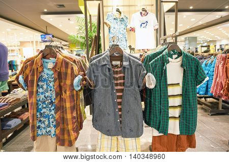 PATTAYA, THAILAND - FEBRUARY 22, 2016: inside of a store at Central Festival Pattaya. Central Festival Pattaya Beach is a shopping mall in Pattaya, Thailand.