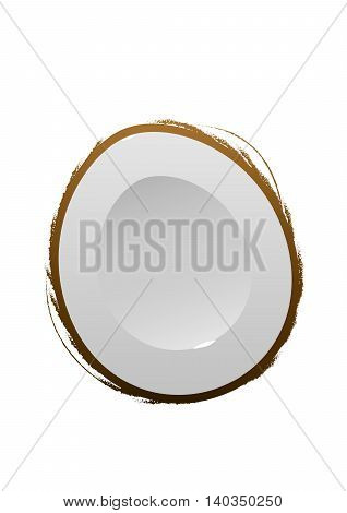 Coconut Isolated Coconut Vector. Composition of Coconut on white background. Coconut icon Nuts set Coconuts with Leaf. Nuts Composition for Packaging. Half Coconut. Coconut Set.