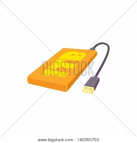 External hard drive 1tb icon in cartoon style isolated on white background. Memory symbol