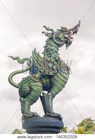 The statue Mythical creatures. Thailand. Thai temple