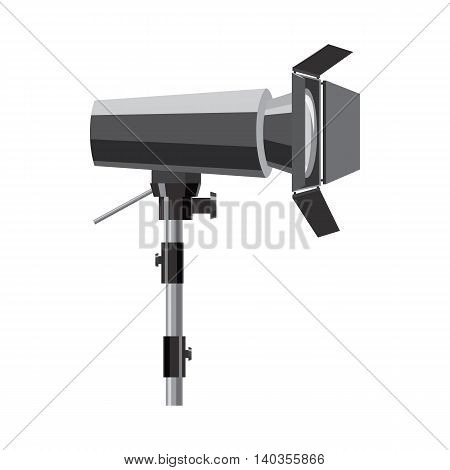 Floodlight on stand icon in cartoon style isolated on white background. Light symbol