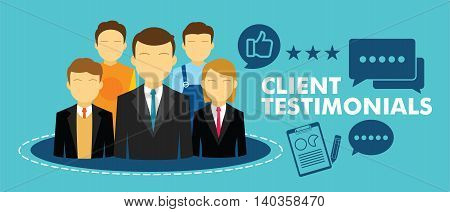 client testimonial feedback vector illustration design concept