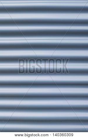 Steel blue galvanized texture corrugated sheet pattern