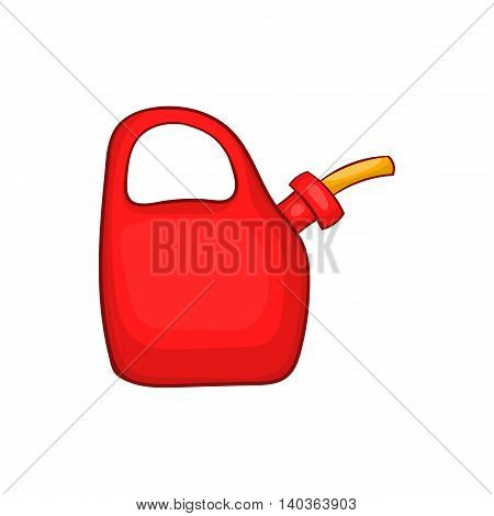 Red oiler icon in cartoon style on a white background