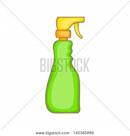 Household spray bottle icon in cartoon style on a white background