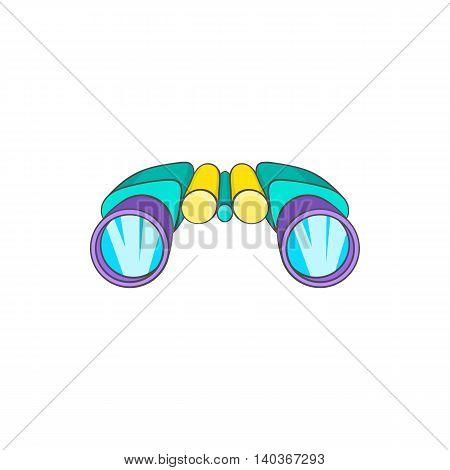 Binocular icon in cartoon style on a white background