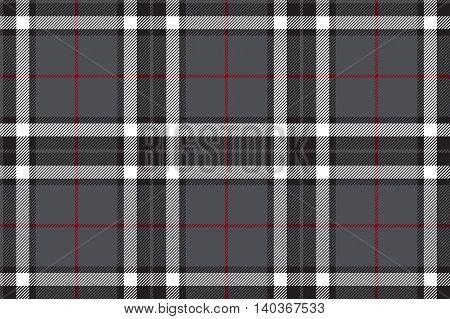Gray tartan fabric textire seamless pattern. Vector illustration.