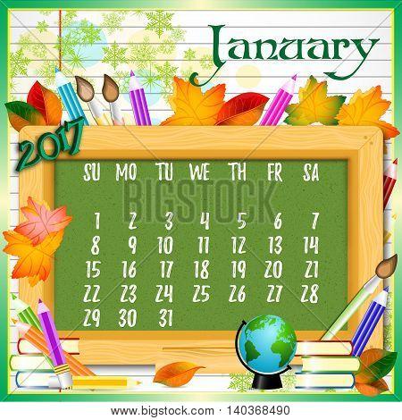 Calendar Design Grid Vector Photo Free Trial