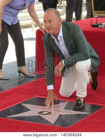 LOS ANGELES - JUL 28:  Michael Keaton at the Michael Keaton Hollywood Walk of Fame Star Ceremony at the Hollywood Walk of Fame on July 28, 2016 in Los Angeles, CA