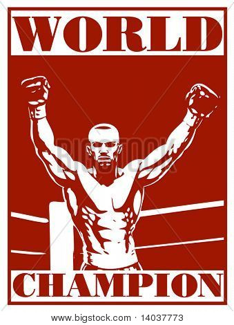 boxing vector poster