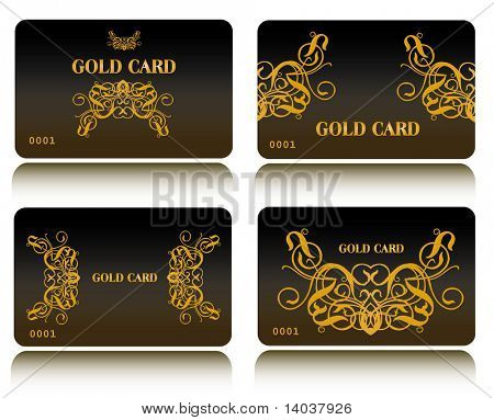 gold vector card