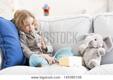 Difficult Day For An Asthmatic Child