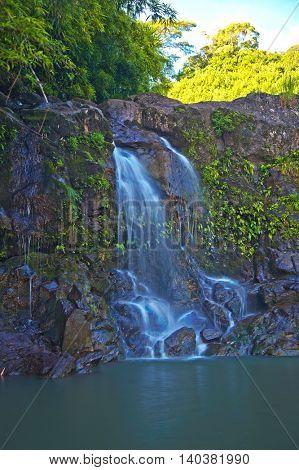 Waterfall on the Road to Hana Maui Hawaii