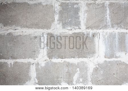 Cavity blocks background with mortar in between.
