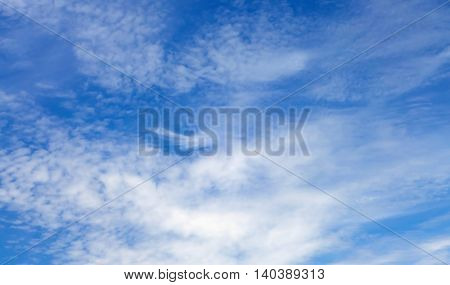 Anticyclonic sky view in the middle of summer.