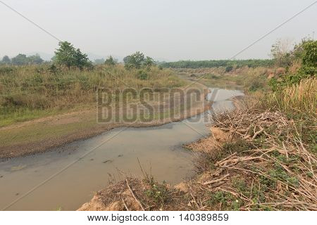 Based on the dry river in thailand