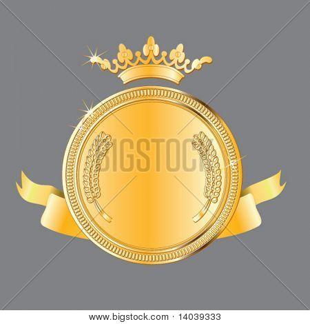 gold award #3. vector medal
