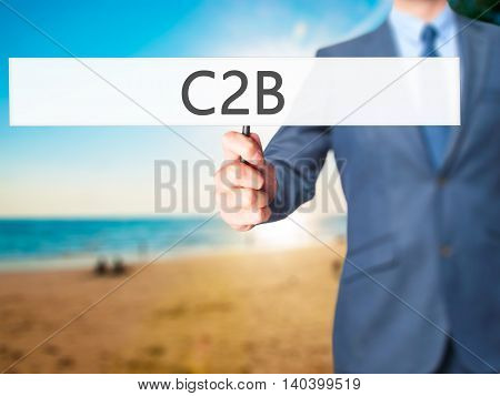 C2B - Business Man Showing Sign