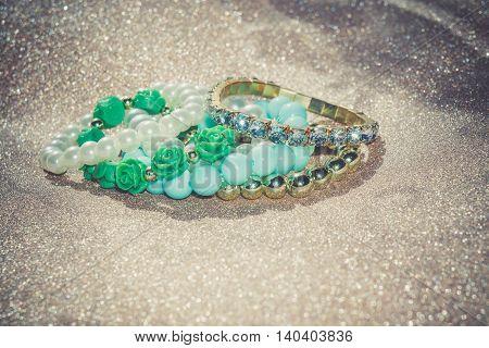 Fashion Blue Beads Bracelets