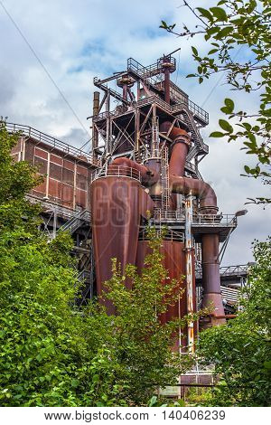 Landschaftspark Nord Duisburg blast fornace Industry and Nature